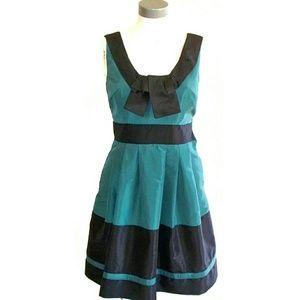 BCBG Maxazria retro 50s style green party dress